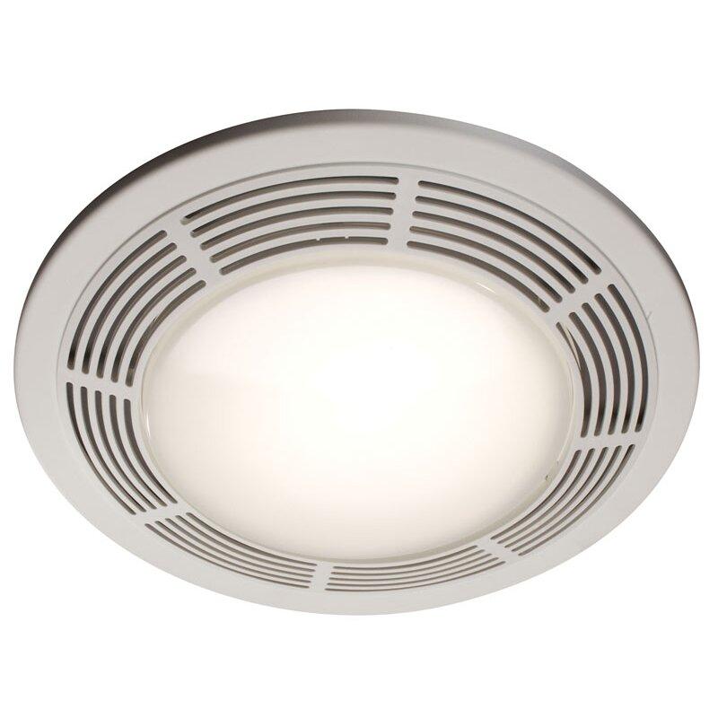 Broan 100 Cfm Ceiling Exhaust Fan With Light 696: Broan Round 100 CFM Exhaust Bathroom Fan With Light And