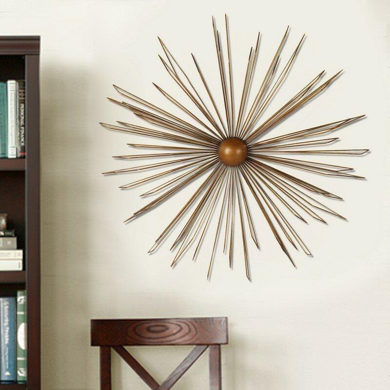 decorative contemporary modern starburst iron widget wall decor - Starburst Wall Decor