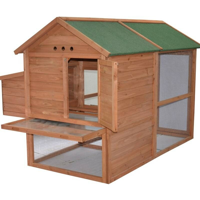 Pawhut Wooden Backyard Hen House Chicken Coop & Reviews ...