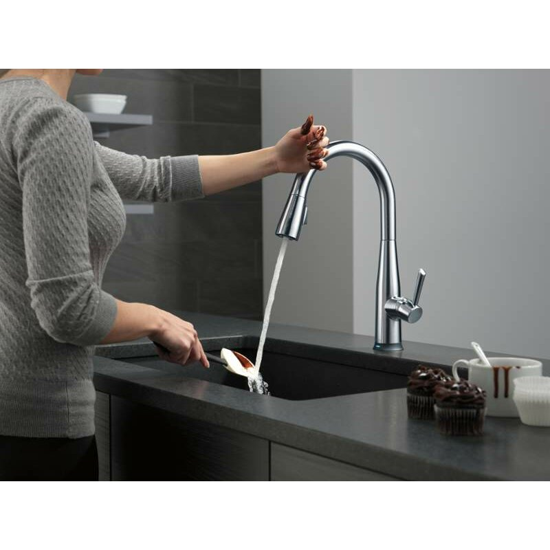 handle pull down standard kitchen faucet with touch2o by delta