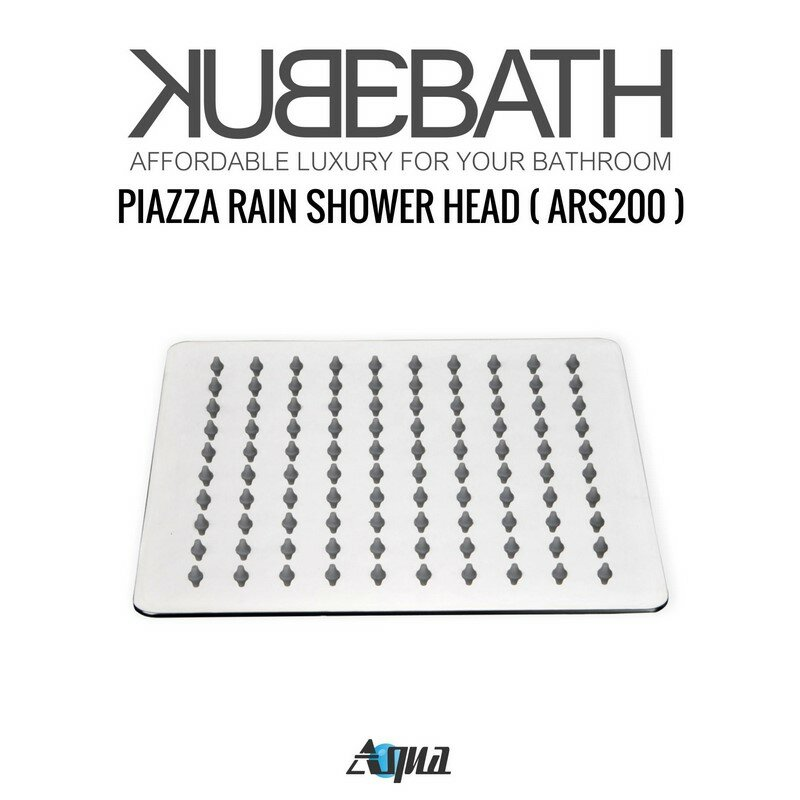 aqua piazza rain shower head complete shower system