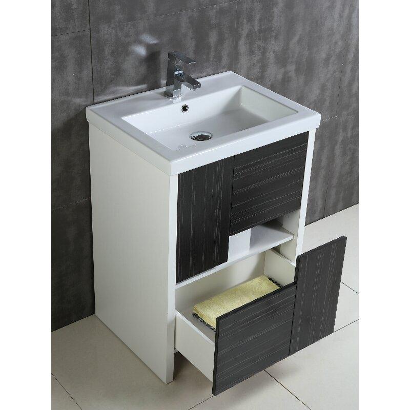 Fine fixtures midland 24 single bathroom vanity set for Bathroom decor midland