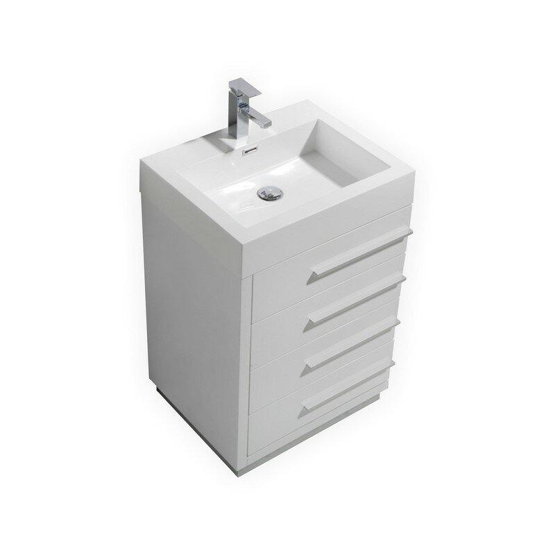 24 single modern bathroom vanity reviews allmodern for All modern bathroom vanity
