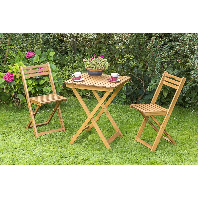garten living 2 sitzer bistro set almond. Black Bedroom Furniture Sets. Home Design Ideas