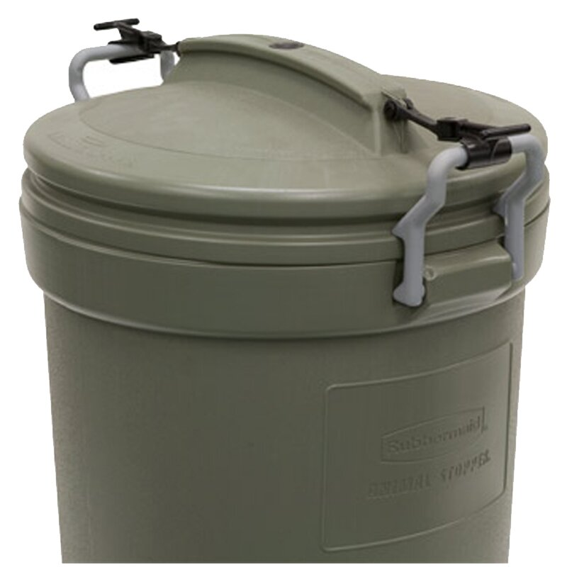 rubbermaid brute 32 gallon gray trash can lid