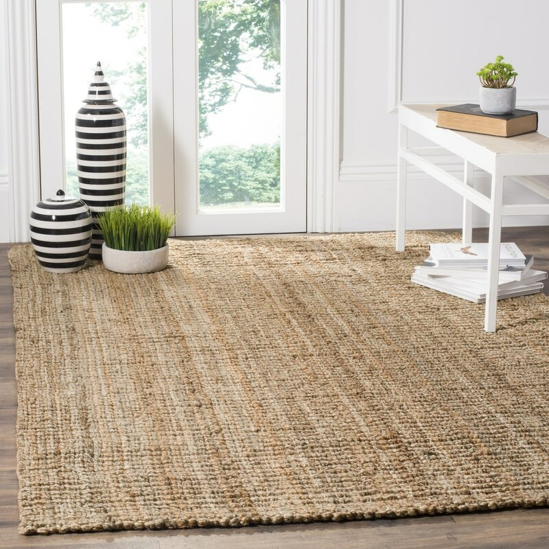 Perfect Gaines Hand Woven Brown Area Rug