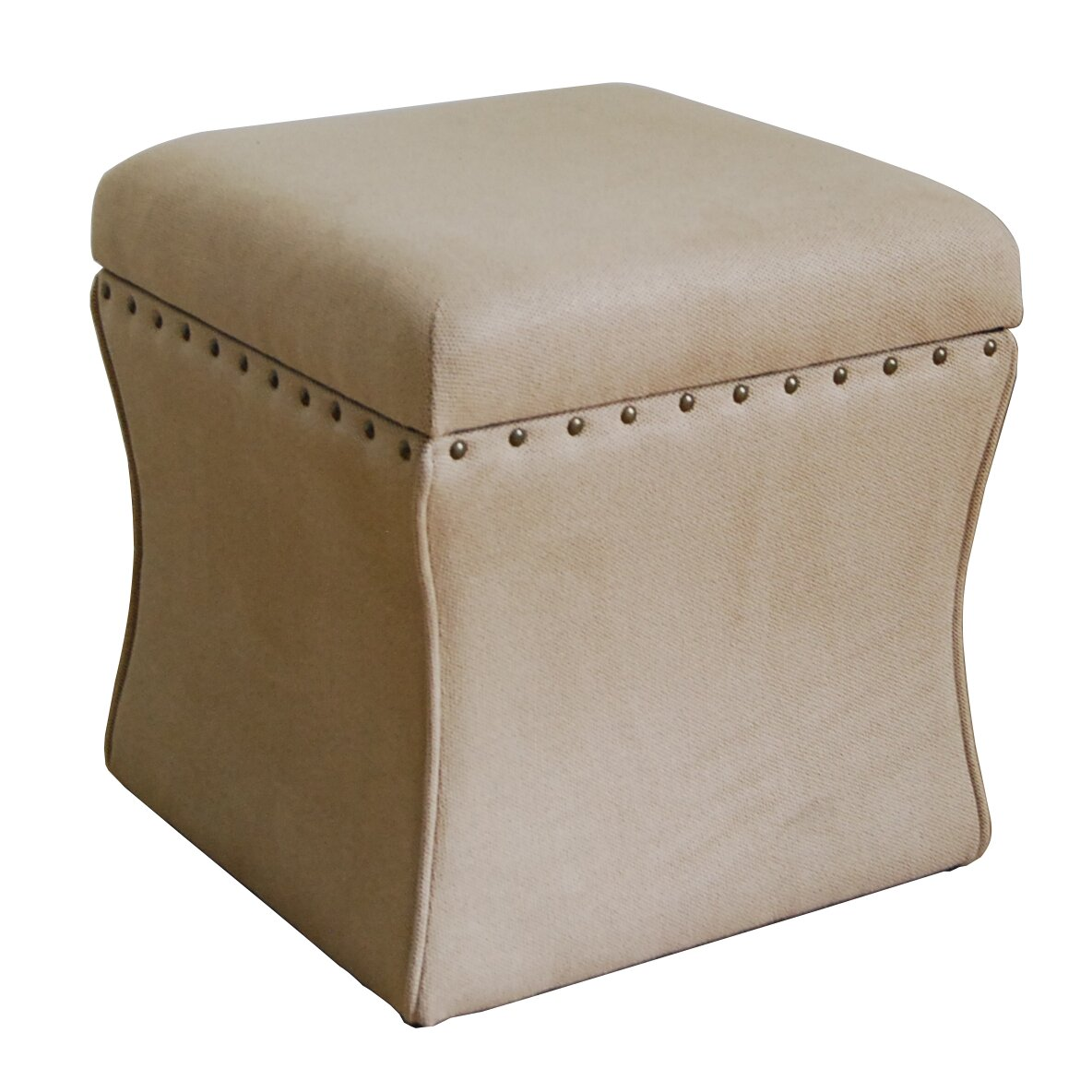 Cinch Upholstered Storage Cube Ottoman - HomePop Cinch Upholstered Storage Cube Ottoman & Reviews Wayfair