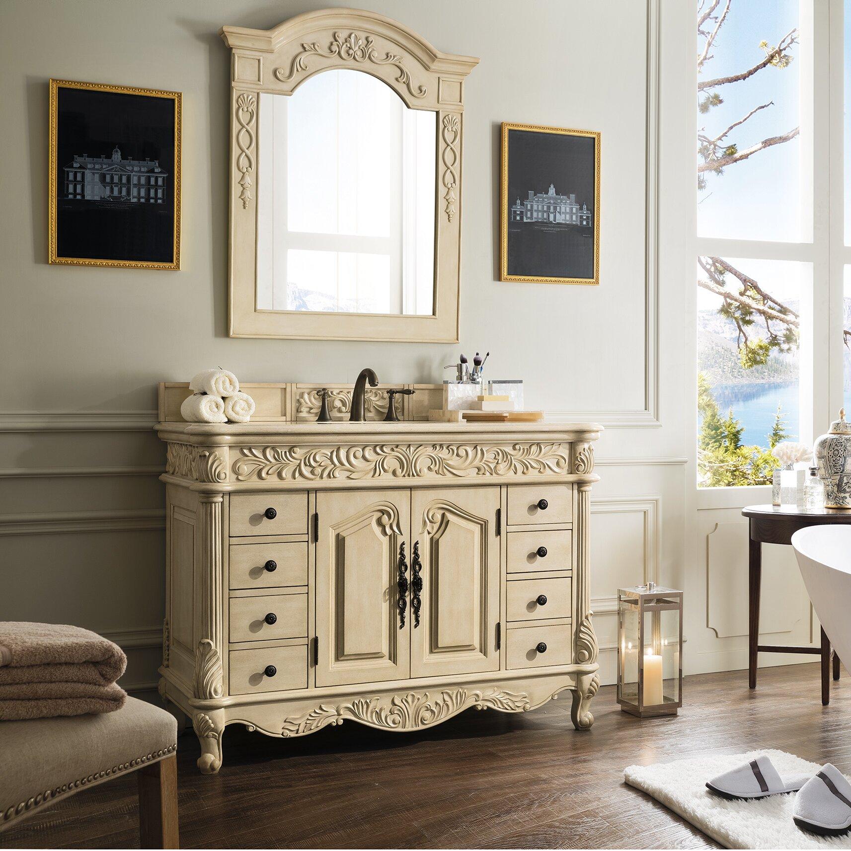 "James Martin Furniture Parchment 48"" Single Light Wood ..."