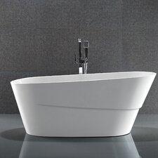"""67"""" x 31"""" Acrylic Freestanding Soaking Bathtub"""
