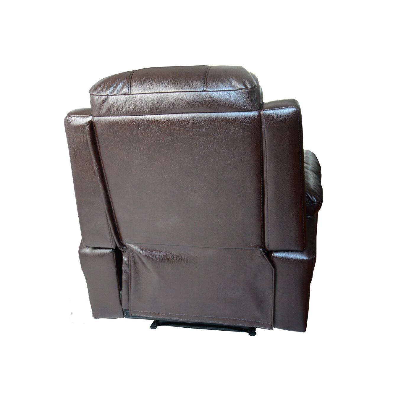 Newacme LLC MCombo Vibrating Swivel Reclining Massage Chair With Heated Loung