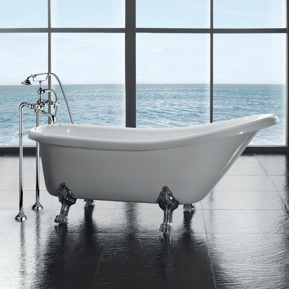 Ove Decors Clawfoot 66 39 X 28 Acrylic Slipper Tub