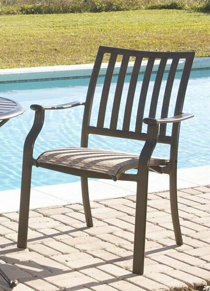 Panama Jack Island Breeze Stacking Dining Arm Chair