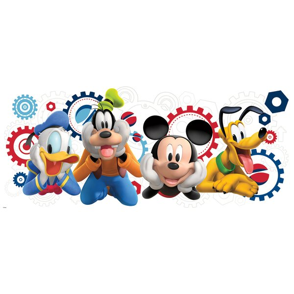 Room Mates Mickey and Friends Mickey Mouse Clubhouse Capers Giant Wall  Decal & Reviews | Wayfair - Room Mates Mickey And Friends Mickey Mouse Clubhouse Capers Giant