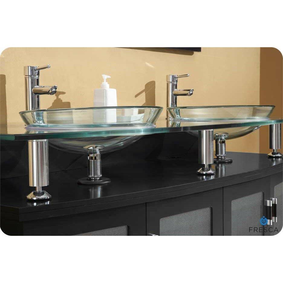 Fresca Classico Contento 60 Modern Double Sink Bathroom Vanity Set With Mirrors Reviews Wayfair
