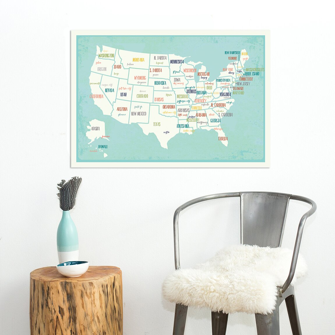 USA Blank Printable Map With State Names Royalty Free Jpg Idaho - Memphison us map
