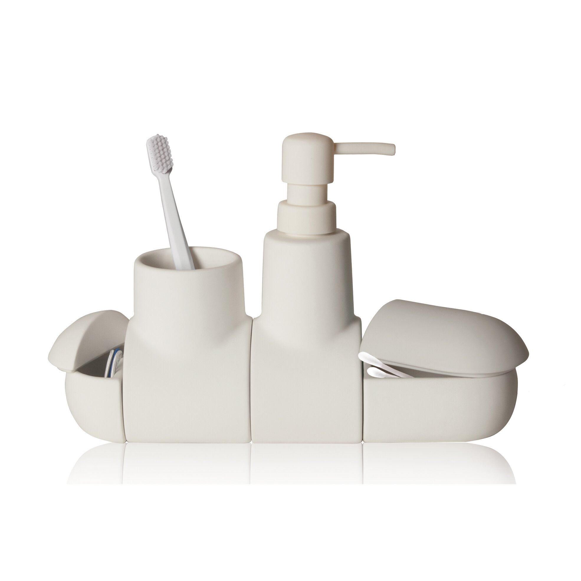 Seletti submarino porcelain bathroom accessory set for Design accessoires