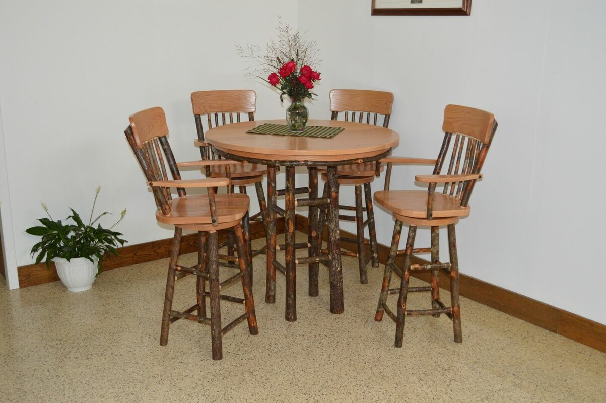 A&L Furniture Hickory 5 Piece Dining Set