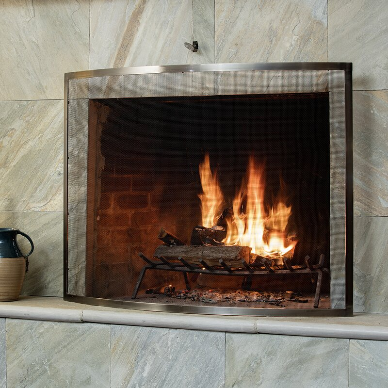 Uniflame 1 Panel Metal Fireplace Screen Reviews Wayfair