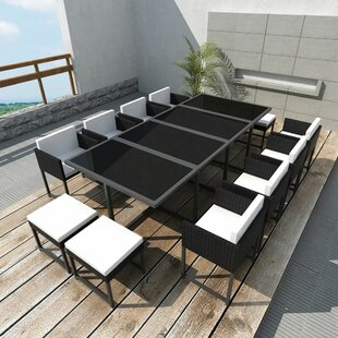 Grimsby 12 Seater Dining Set With Cushions