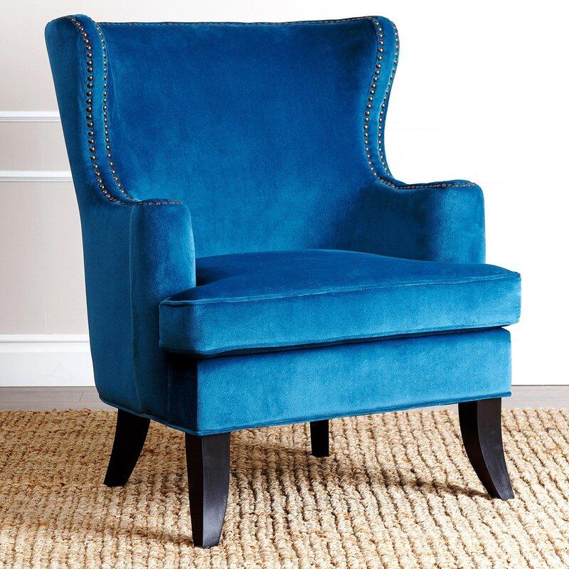 Burnard Fabric Wingback Chair & Willa Arlo Interiors Burnard Fabric Wingback Chair u0026 Reviews | Wayfair