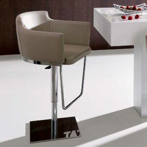 Geordie Adjustable Height Swivel Bar Stoo..