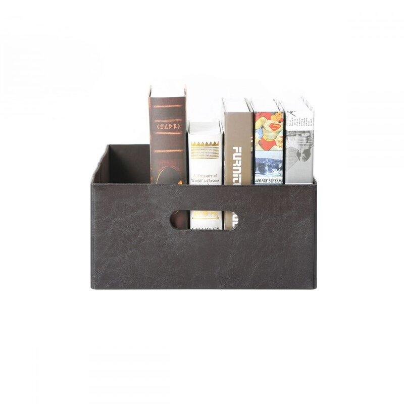 Faux Leather Storage Bin