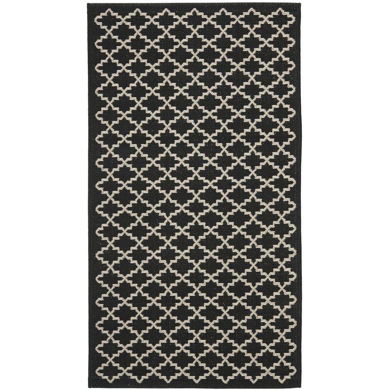 safavieh innen au enteppich courtyard in schwarz beige bewertungen. Black Bedroom Furniture Sets. Home Design Ideas