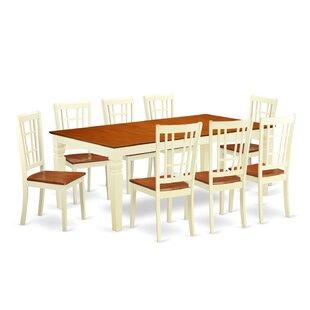 Beesley 9 Piece Buttermilk/Cherry Wood Dining Set