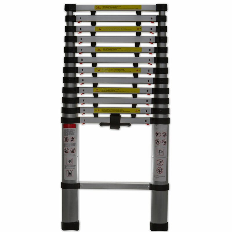 Oxgord 12 5 Ft Aluminum Telescoping Extension Ladder With