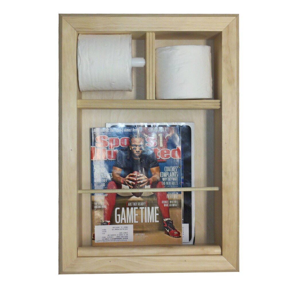 Wg Wood Products Wall Mounted Magazine Rack And Toilet Paper Holder Wayfair