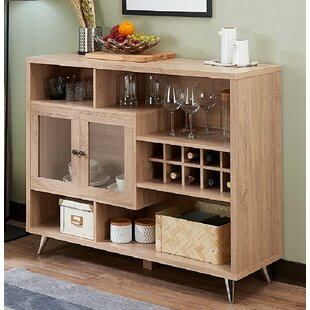 Duong Wooden Bar with Wine Storage