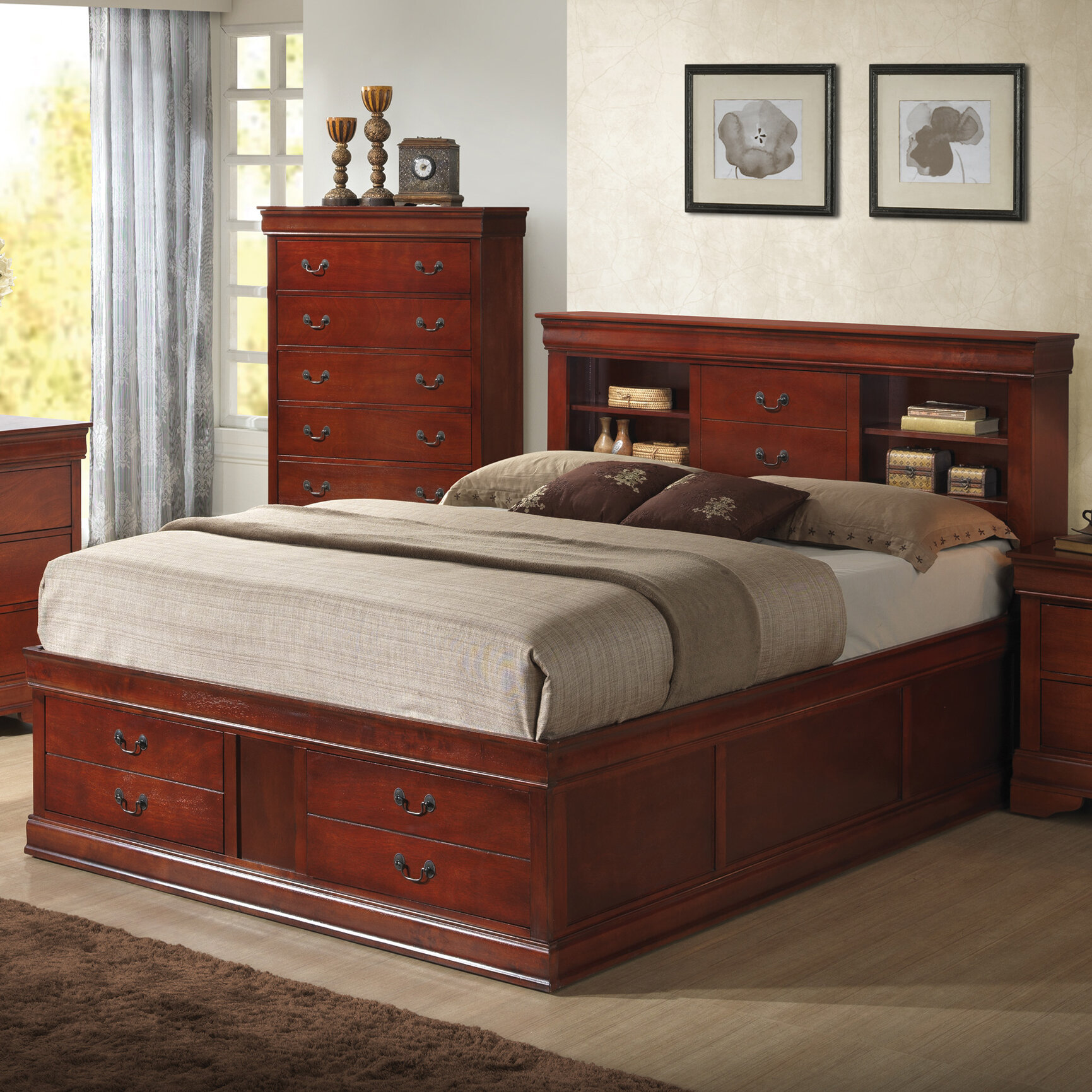 laurel foundry modern farmhouse tina traditional platform bed