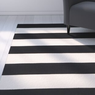 Skyler Hand Woven Cotton Black Ivory Area Rug