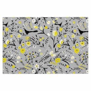 'Blackbirds on Gray' Doormat