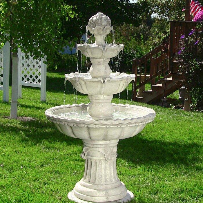 Exceptionnel Fibreglass 4 Tier Electric Water Fountain