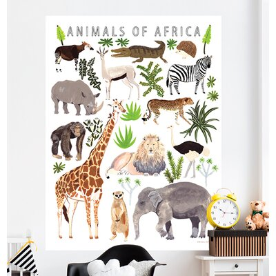 Relativ Art mural: Thème - Jungle et savane | Wayfair.ca LA66