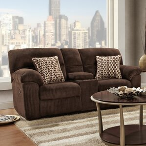 Litherland Reclining Loveseat with Console b..