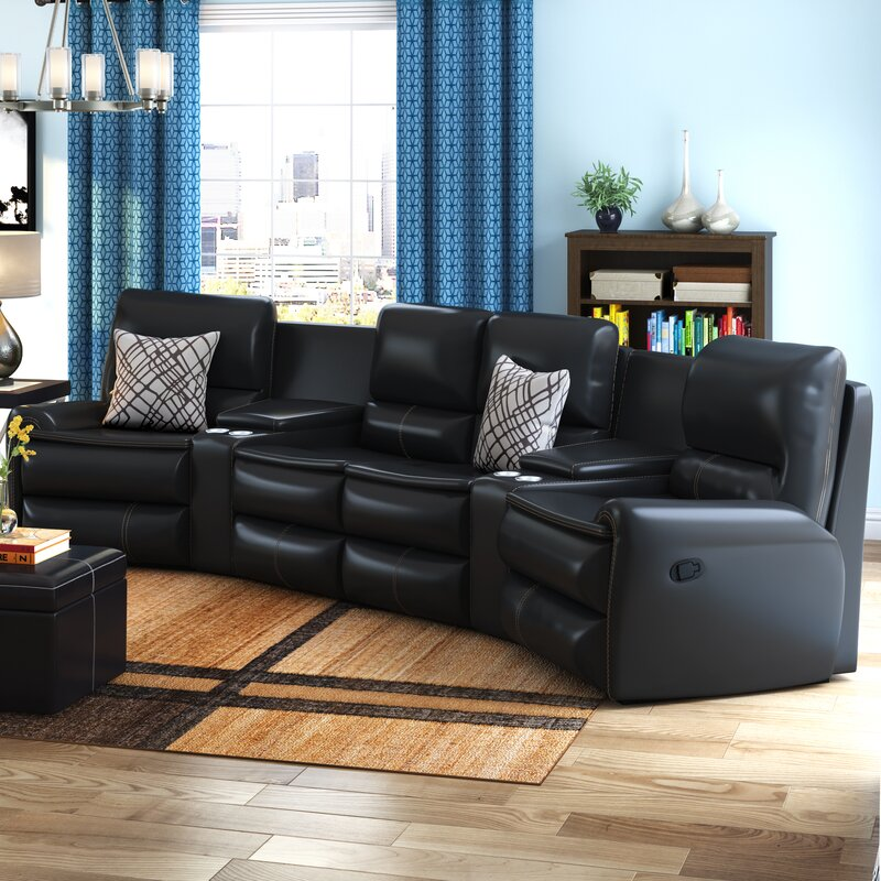 Yonkers Leather Reclining Sectional : sofa sectional recliner - Sectionals, Sofas & Couches