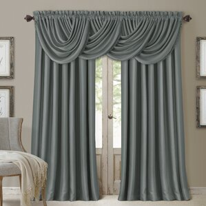 living room curtains with valance. Ardmore Solid Blackout Rod Pocket Single Curtain Panel Drapes  Valance Sets You ll Love Wayfair