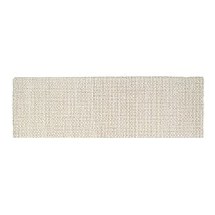 Bargain Boston Hand-Woven Wool White Area Rug By Foundry Select