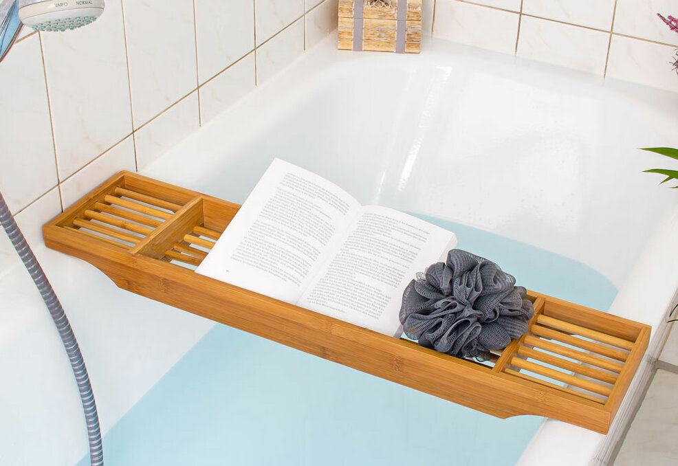 Relaxdays Bamboo Bath Tray | Wayfair.co.uk