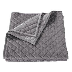 Gray Velvet Quilt Wayfair