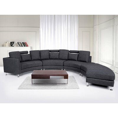 orren ellis crivello curved sectional sofa wayfair rh wayfair com circle sectional sofa bed circular sectional sofa