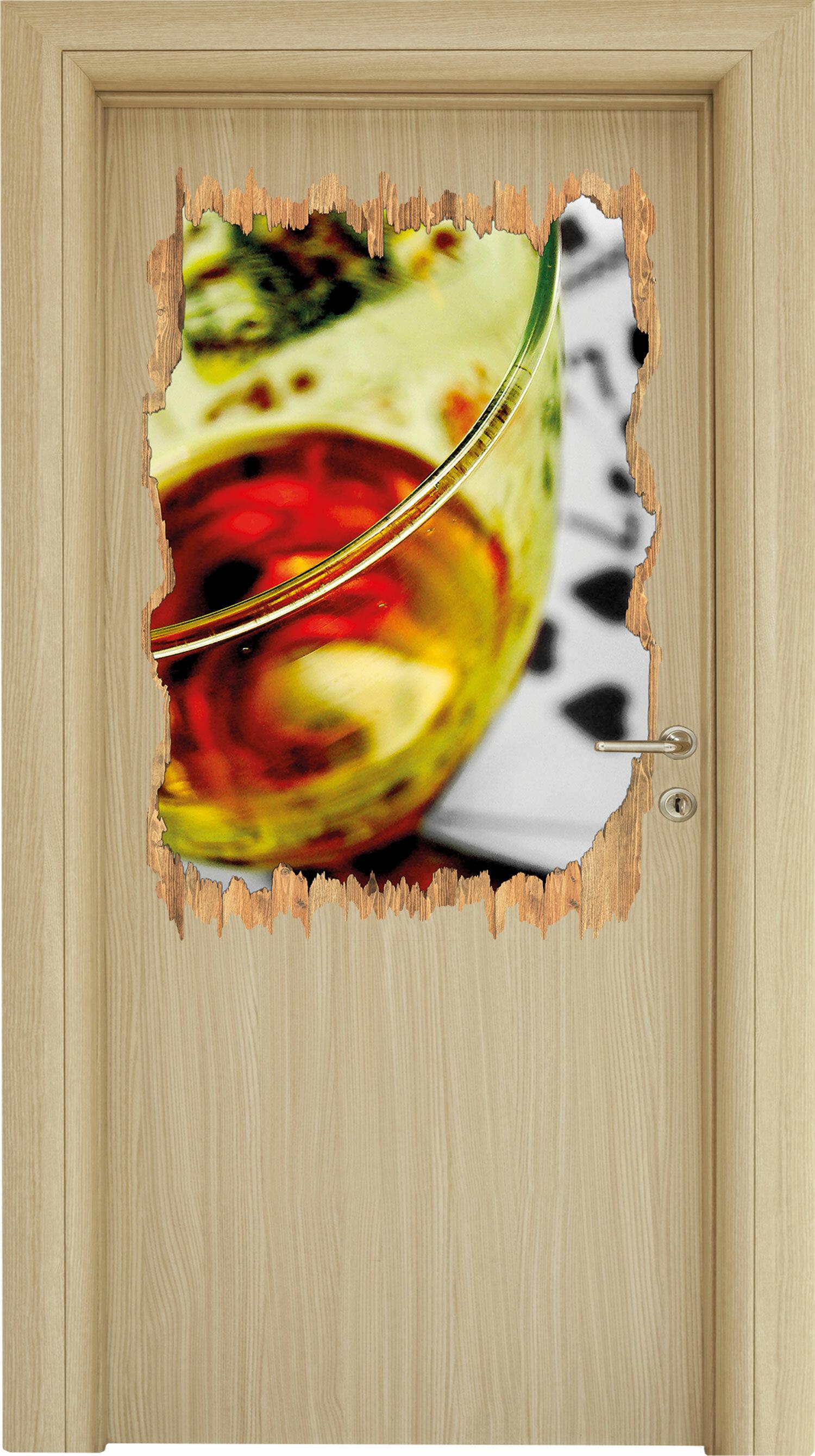 Home Loft Concept Wandtattoo Großes Glas Wein Auf Spielkarten