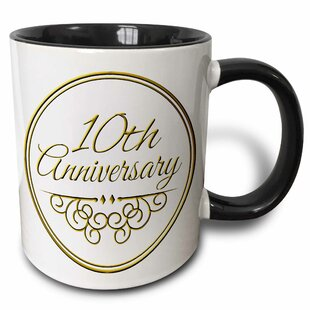 10th Anniversary Gift Text for Celebrating Wedding Anniversaries 10 Tenth Ten Years Together Coffee Mug  sc 1 st  Wayfair & 10th Anniversary Gift | Wayfair