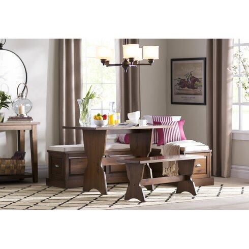 Dearborn 3 Piece Nook Dining Set