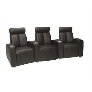 Ambassador Home Theater Lounger (Row of 3) by Bass