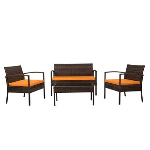 Snag This Hot Sale! Roxana 4 Piece Set with Cushions Andover Mills