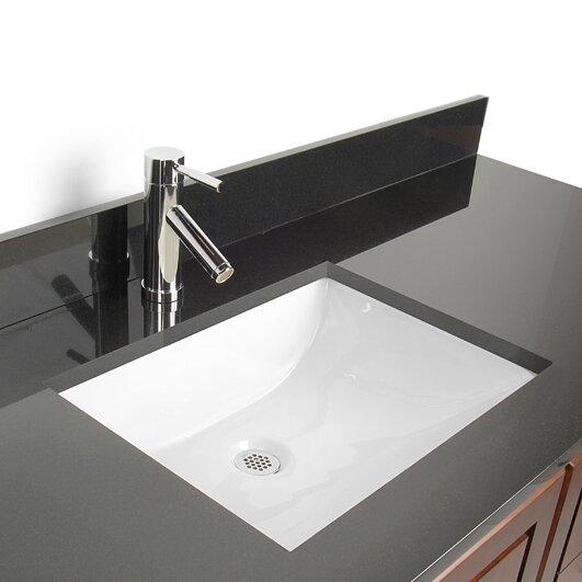 Undermount Bathroom Sink d'vontz vitreous china rectangular undermount bathroom sink with