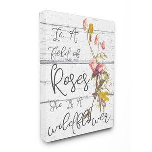 Be A Wildflower Cursive Typography Wall Art